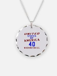 America 40 Birthday Necklace