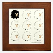 One of These Sheep (White bk)! Framed Tile