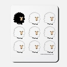 One of These Sheep (White bk)! Mousepad