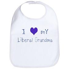 I Love My Liberal Grandma Bib