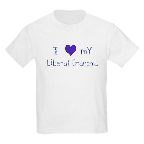 I Love My Liberal Grandma Kids T-Shirt