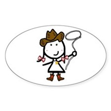 Girl & Western Decal