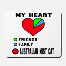 My Heart Friends Family Australian Mist Mousepad