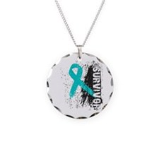 Survivor Cervical Cancer Necklace Circle Charm