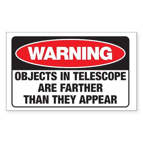 Astro-Warning Rectangle Sticker