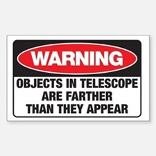Astro-Warning Rectangle Stickers