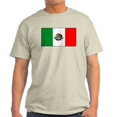Mexico Mexican Blank Flag Ash Grey T-Shirt