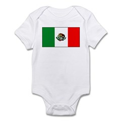 Mexico Mexican Blank Flag Infant Creeper