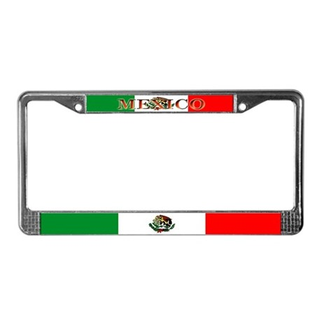 Mexico Mexican Blank Flag License Plate Frame by allflags