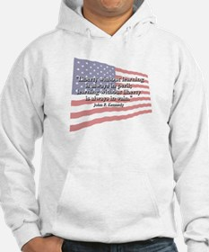 John F. Kennedy: Liberty & Learning Quote Hoodie