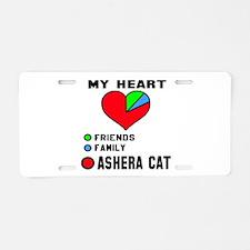 My Heart Friends Family Ash Aluminum License Plate