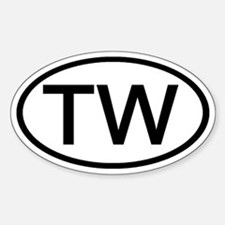 TW - Initial Oval Oval Decal