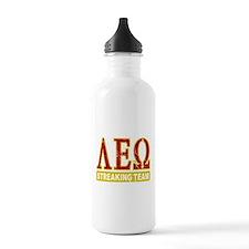 Lambda Eplsilon Omega Streaking Water Bottle