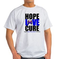 Male Breast Cancer HopeLoveCu T-Shirt