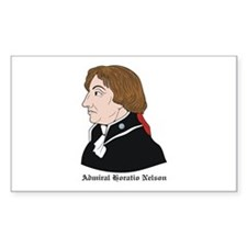 Admiral Horatio Nelson Rectangle Decal