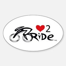 Love 2 ride 2 Sticker (Oval)