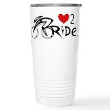 Love 2 ride 2 Ceramic Travel Mug