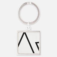 Unique Alexia Square Keychain