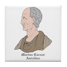 Marius Caesar Aurelius Tile Coaster