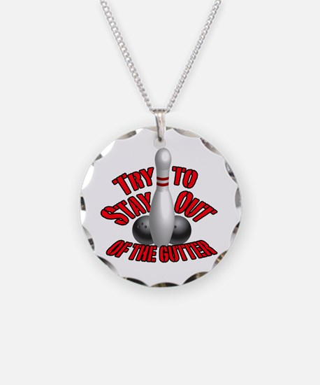 Bowling dirty humor Necklace Circle Charm