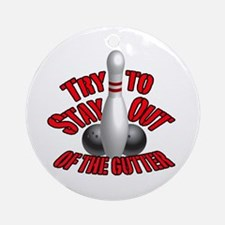 Bowling dirty humor Ornament (Round)