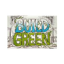 Build Green Rectangle Magnet