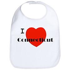 I Love Connecticut! Bib
