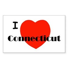 I Love Connecticut! Rectangle Decal