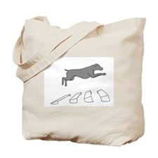 Weim Over the Broad Jump Tote Bag