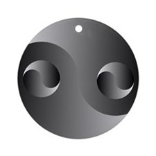 Shadow Yin Yang Ornament (Round)