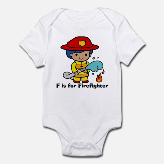 F is for Firefighter Infant Bodysuit