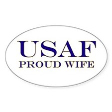 USAF Proud Wife Oval Decal
