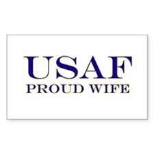 USAF Proud Wife Rectangle Decal
