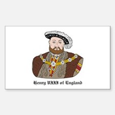 King Henry VIII Rectangle Decal