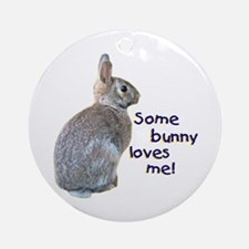 Some Bunny Loves Me Ornament (Round)