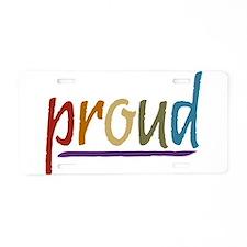 Earth Pride Aluminum License Plate