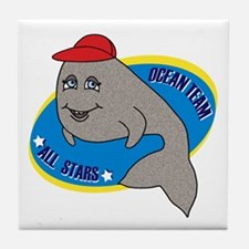 Ocean Team All Stars Whale Tile Coaster