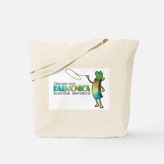 Harmonica Cowboy Tote Bag