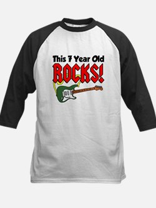 This 7 Year Old Rocks Kids Baseball Jersey