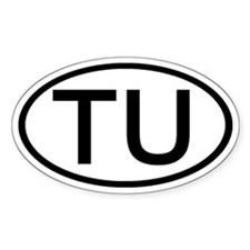 TU - Initial Oval Oval Decal