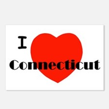 I Love Connecticut! Postcards (Package of 8)