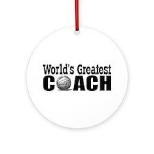 World's Greatest Basketball Coach Ornament (Round)