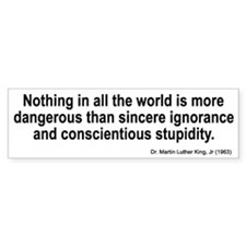 sincere ignorance... Bumper Bumper Sticker