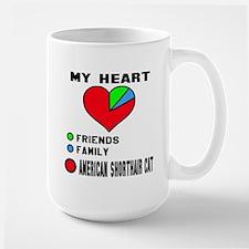 My Heart Friends Family A Mug