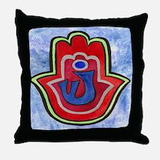 Double Hamsa Shine Throw Pillow