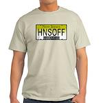 Hands Off NJ Vanity Plate Ash Grey T-Shirt
