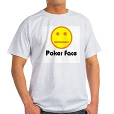 Poker Face Ash Grey T-Shirt