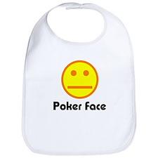 Poker Face Bib