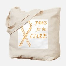 Orange Paws Cure Tote Bag
