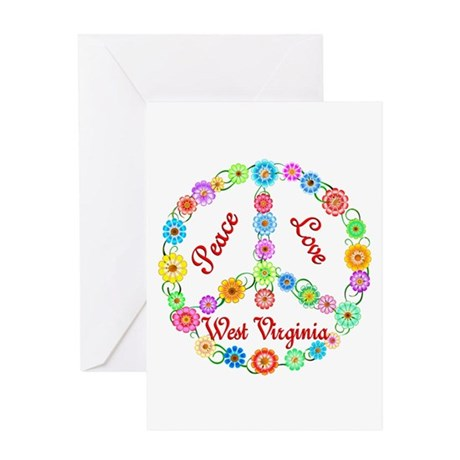 Peace Love West Virginia Greeting Card